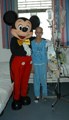 Mickey Mouse in der Kinderklinik Essen